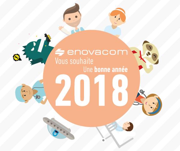 Enovacom vous souhaite une bonne année 2018